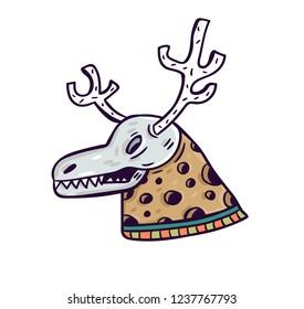 dead deer cartoon