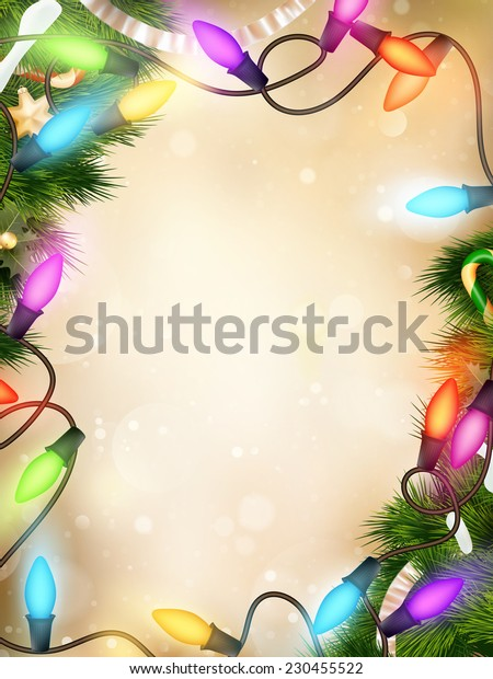 Christmas defocused light background. EPS 10 vector file included