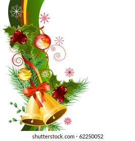 Christmas design element with bells