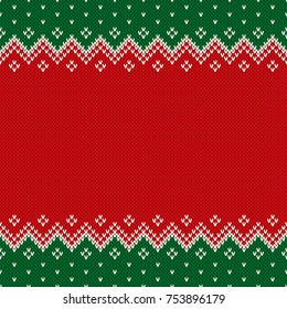 fa5af60b1 Christmas Design Knitted Background with a Place for Text. Wool Knit Sweater  Texture Imitation
