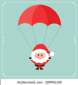 Christmas design over blue background. vector illustration