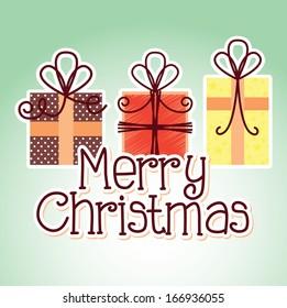 christmas design over green background vector illustration