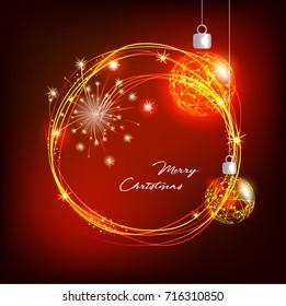 Christmas design with shining circle.