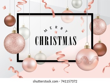Rose Gold Christmas Background Images Stock Photos Vectors