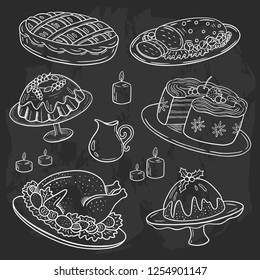 Vanoce Jidlo Kresba Stock Illustrations Images Vectors Shutterstock