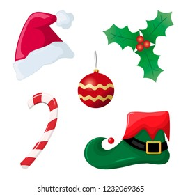 Christmas elements collection. Vector illustration