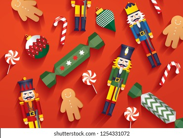 christmas elements template vector/illustration
