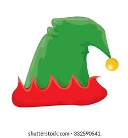 02362deba3f90 christmas elf hat. vector illustration
