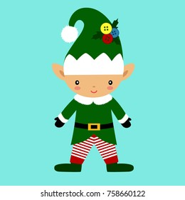 Christmas Elf. Christmas icon. New Year. Christmas decoration. Vector illustration