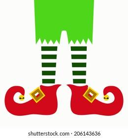 christmas elf legs