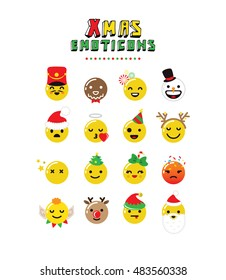 Christmas Emoticon set