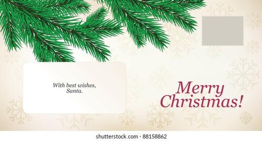 Christmas envelope. C6-C5 format