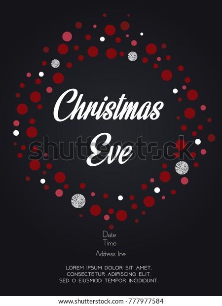 Christmas Eve Invitation Card Vector Illustration Stock