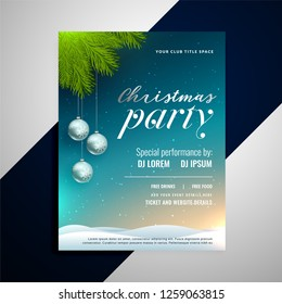 christmas event party decorative flyer template