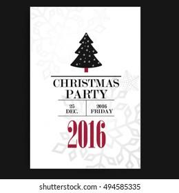 Christmas Falyer Design Template