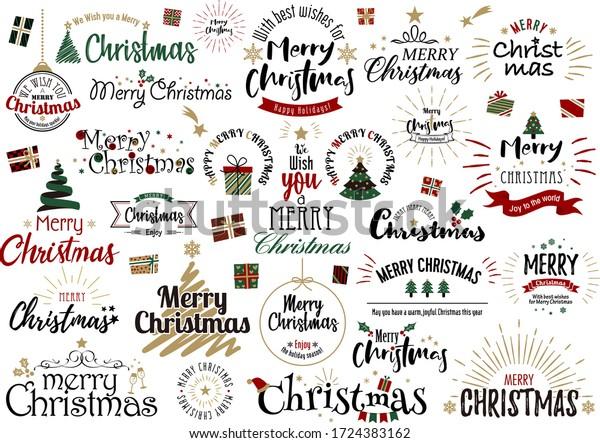 Christmas fashionable simple design logo