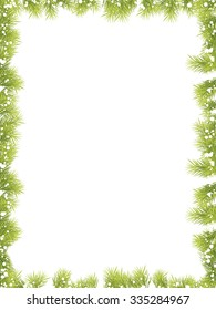Christmas Fir Tree Frame 2