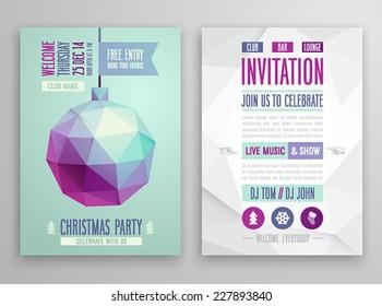Christmas flyer - geometric style.