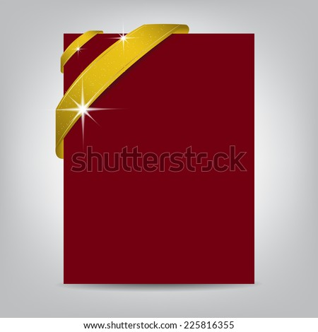 Christmas Flyer Template Blank Paper Banner Stock Vector Royalty