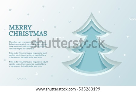 Christmas Flyer Template Green Christmas Tree Stock Vector Royalty