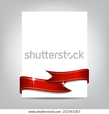 Christmas flyer template paper banner red stock vector royalty free christmas flyer template paper banner with red ribbon cover designcan be used maxwellsz