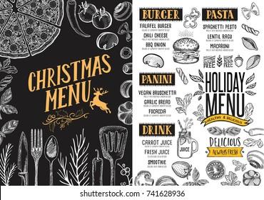 Cafe Menu Food Placemat Brochure Restaurant Stock-Vektorgrafik ...