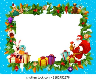 Christmas Frame Blank Space New Year Stock Vector Royalty Free