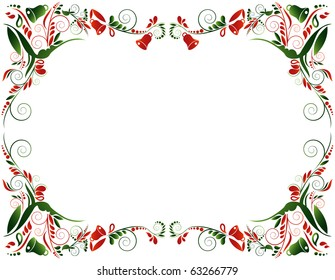 Christmas frame, vector