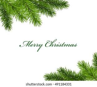 Christmas framework with fir tree