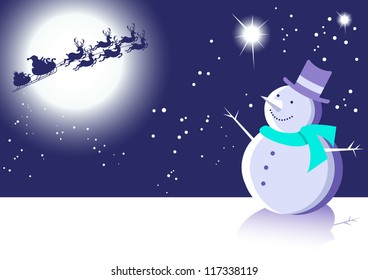 Christmas Fun Animals-Four Festive Vector Animal Illustrations