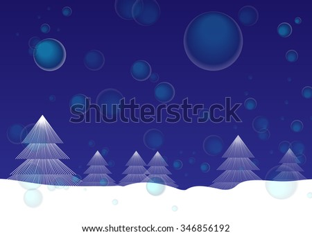 Christmas Fur Tree On Snow Land Stock Vector Royalty Free