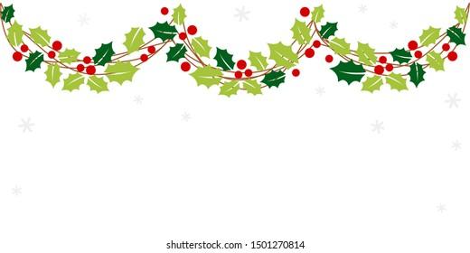 Christmas garland frame  - Christmas set