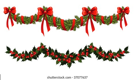 Christmas Garland Images Stock Photos Vectors Shutterstock