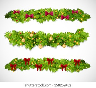 Christmas garlands. Vector illustration