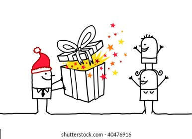 Christmas Ideas For Kids Drawing.Christmas Children Draw Stock Vectors Images Vector Art