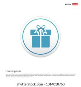 Christmas Gift Box Icon Hexa White Background icon template