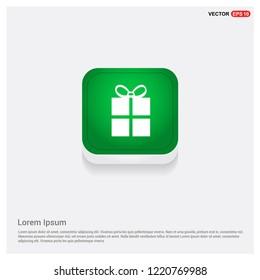 Christmas Gift Box IconGreen Web Button - Free vector icon
