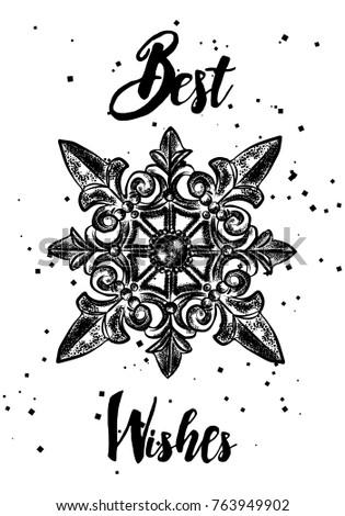 Christmas Gift Tag Card Calligraphy Hand Stock Vector Royalty Free