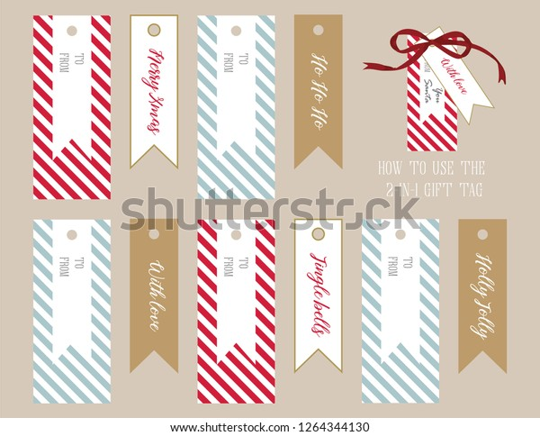 photo relating to Large Gift Tags Printable identify Xmas Reward Tag Printable Stripes 5 Inventory Vector