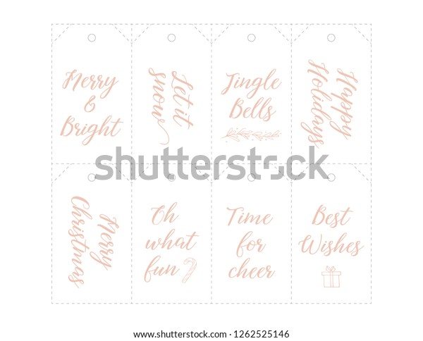 photo about Printable Number Tags referred to as Xmas Present Tags Printable Handlettering Slice Inventory Vector