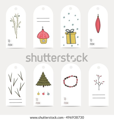 christmas gift tags template clip art christmas gift tags stickers and labels template for greeting scrap booking congratulations tags labels stock vector royalty