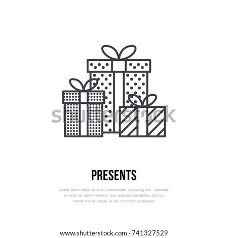 Christmas Gifts New Year Presents Packaging Stock Vector (Royalty ...