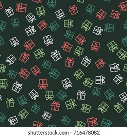 Christmas Gifts Seamless Pattern - Great for Christmas and Winter Projects, Wrapping Paper, Backgrounds, Wallpapers.