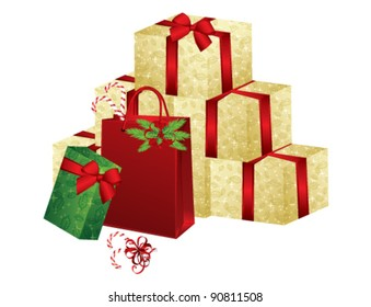Christmas Gifts, vector