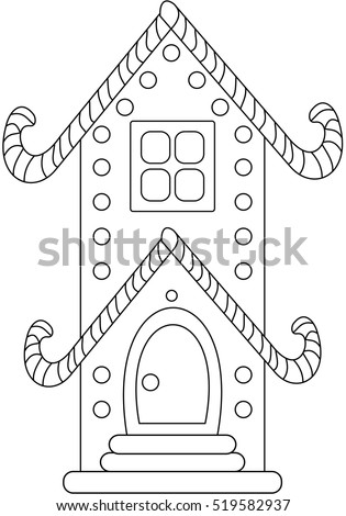 christmas gingerbread house cookies coloring vector