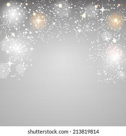 Christmas Glossy Star Background Vector Illustration EPS10