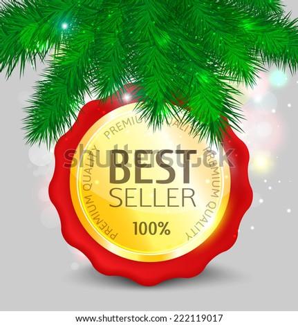 Christmas Gold Medal Best Seller Slogan Stock Vector ...