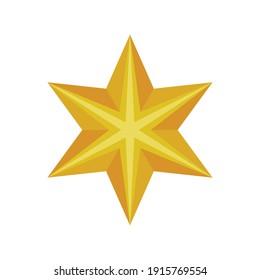 christmas golden star decoration isolared vector illustration design
