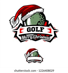 Christmas Golf Logo