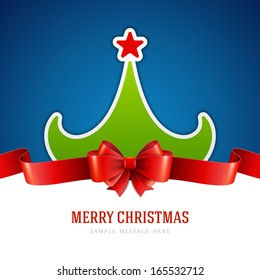 Christmas green tree background. Vector illustration Eps 10.